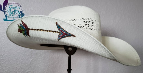 Bling Arrow Straw Cowboy Hat - Size 7 1/8 - IN STOCK