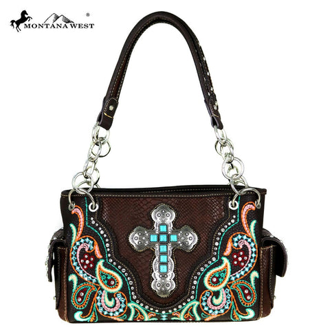 Montana West Paisley Cross Western Handbag