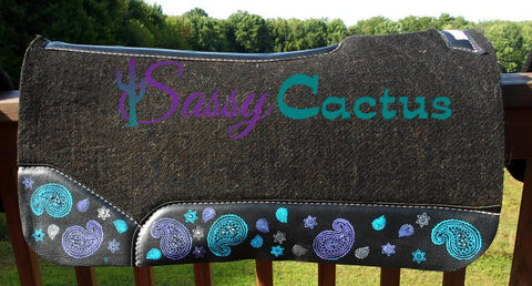 Paisley Hand Painted Best Ever Saddle Pad - CUSTOM ORDER