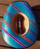 Hand Painted Serape Palm Leaf Cowboy Hat Size 7 - IN STOCK