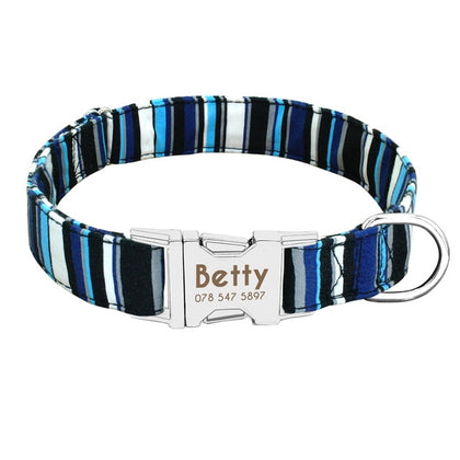 Personalized Nylon Dogs Collars