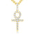 Ankh Cross Diamond + Gold (Pendant & Necklace)