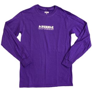 Double Puzzle Long Sleeve Tee - Purple