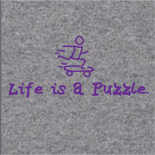Life Is A Puzzle Tee (Gray)