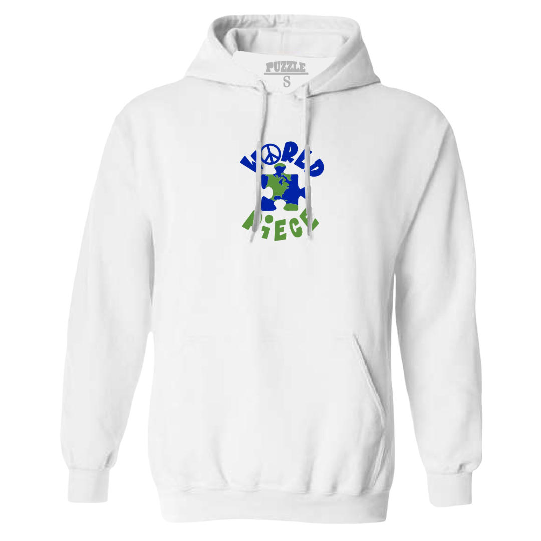 Puzzle Peace Hoodie (White)