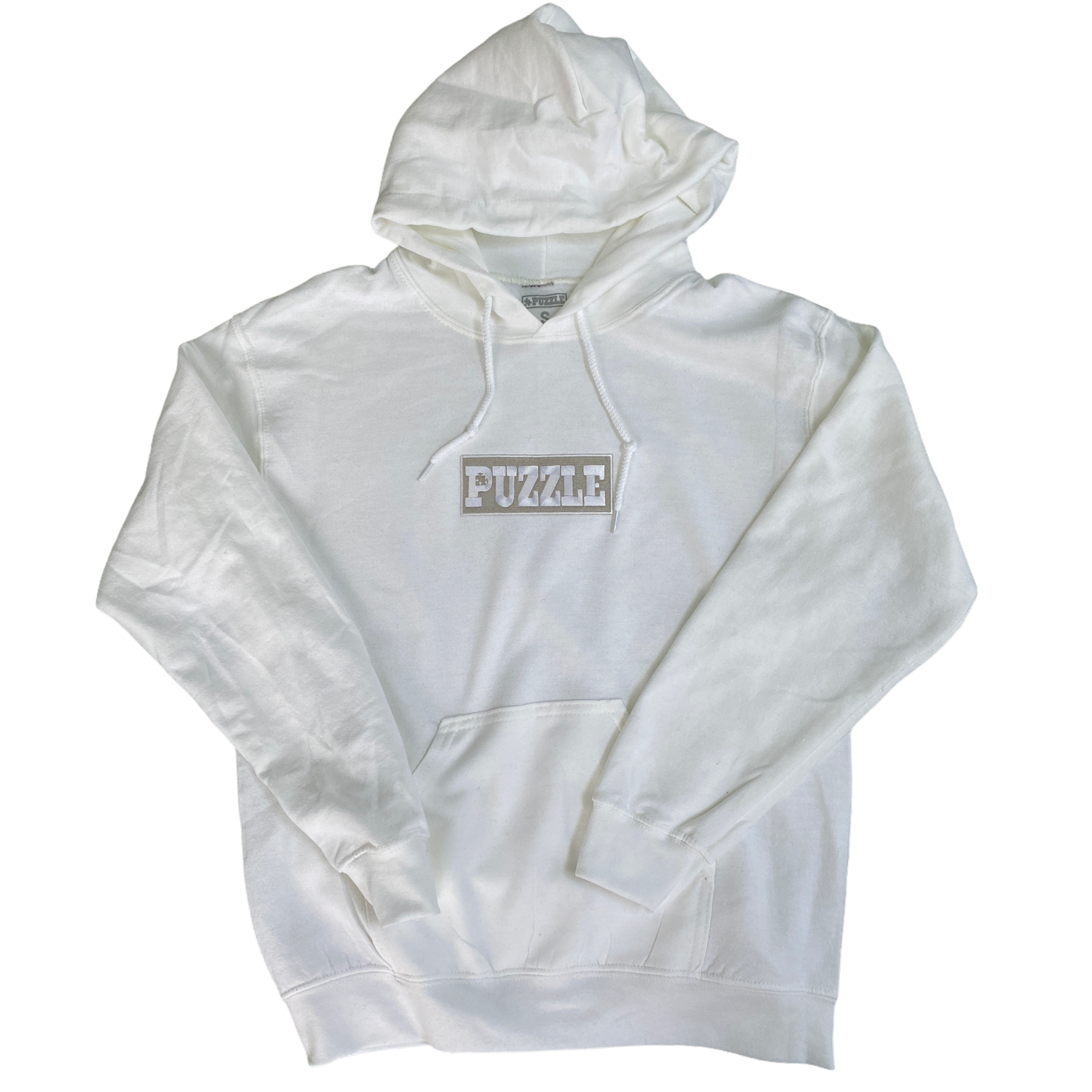 Puzzle Bold Hoodie (White)