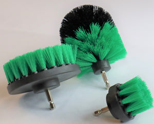 3 Piece Drill Brush Set GREEN