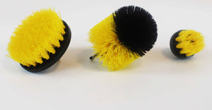 3 Piece Drill Brush Set YELLOW