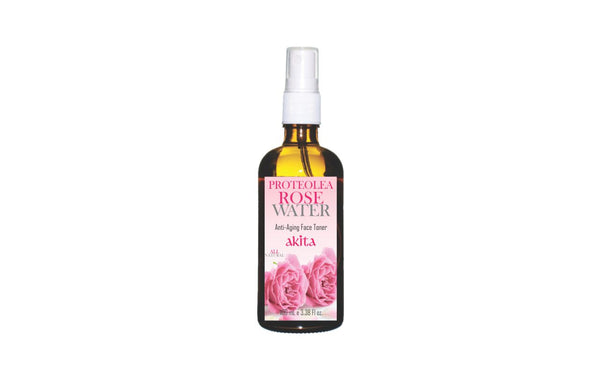 Rose Water With Proteolea- Anti Aging Face Toner - Akita Natural Canada