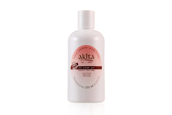 Face Wash Natural Rose - Akita Natural Canada