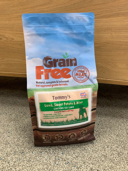 Tommy's Grain Free Complete Dry Dog Food Lamb