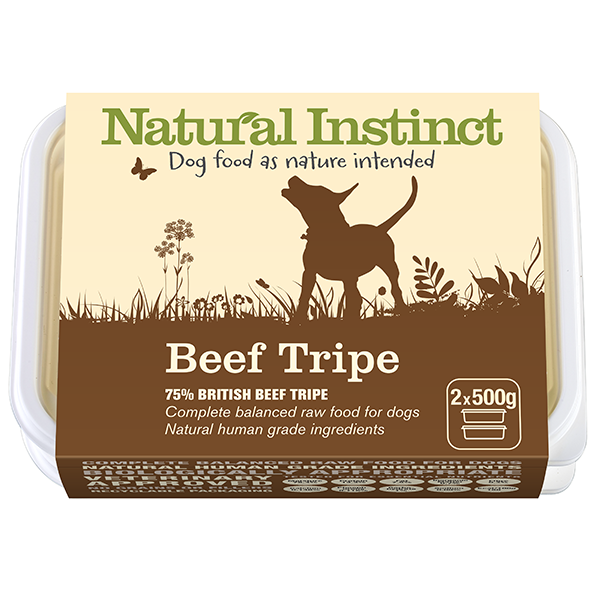 Natural Instinct Complete Beef Tripe 2 x 500g Twin pack