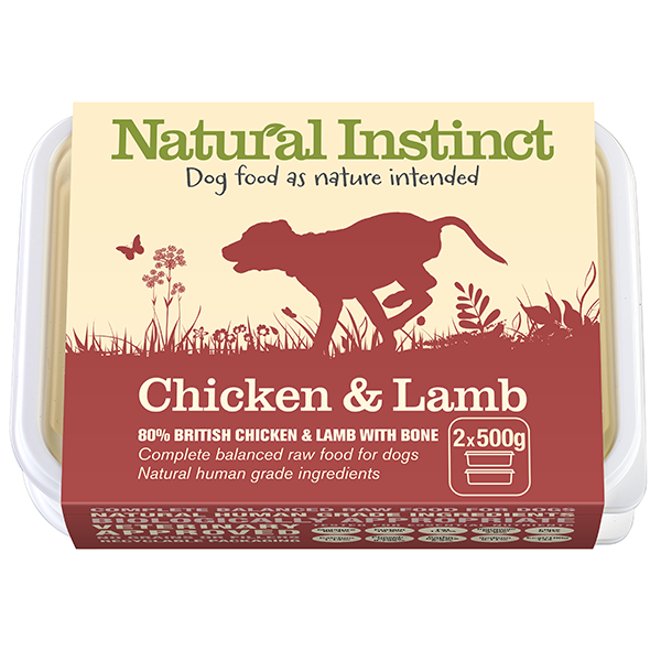 Natural Instinct Chicken and Lamb 2x 500g