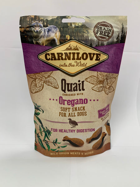 Carnilove Quail & Oregano soft dog treats 200g