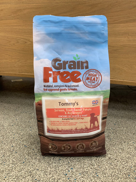 Tommy's Grain Free Complete Dry Food Salmon