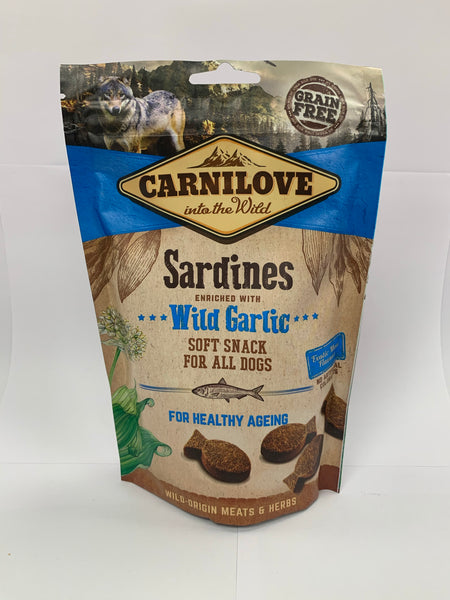 Carnilove Sardine & Garlic soft snack for dogs 200g