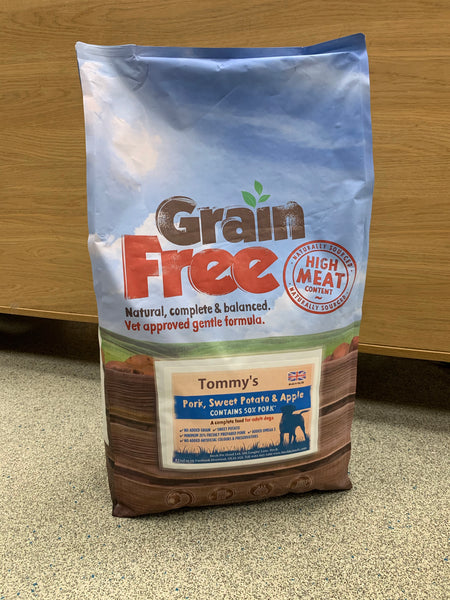 Tommy's Grain Free Dry Complete Food Pork