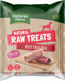 Natures Menu Dog Raw Frozen Chews Beef Trachea 2pce