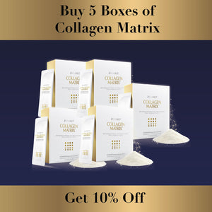 January Promotion: Buy 5 Collagen Matrix & Get 10% off