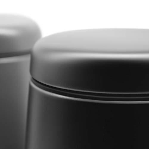 Fortune Candy Airtight Container - Stainless Steel, Magnetic Lid & Scoop - 18 oz, Matte Black - Fortune Candy