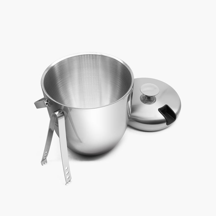 Fortune Candy Double Walled Ice Bucket, with Stainless Steel Ice Tongs and Lid - Fortune Candy