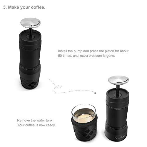 Fortune Candy Portable Coffee Maker, Manual Espresso Machine for Capsule & Ground Coffee, FDA Approved - Fortune Candy