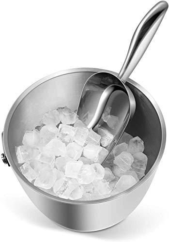 Fortune Candy Ice Scoop, Stainless Steel Ice Scoop, Ergonomic Grip, Mirror Finish, Heavy Duty (6.5 fl oz) - Fortune Candy