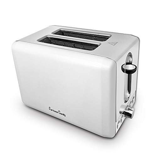 Toasters 2 Slice Best Rated Prime,Stainless Steel,Bagel Toaster - 6 Bread Shade Settings,Bagel/Defrost/Reheat/Cancel Function,1.5in Wide Slots, Removable Crumb Tray,for Various Bread Types(White)