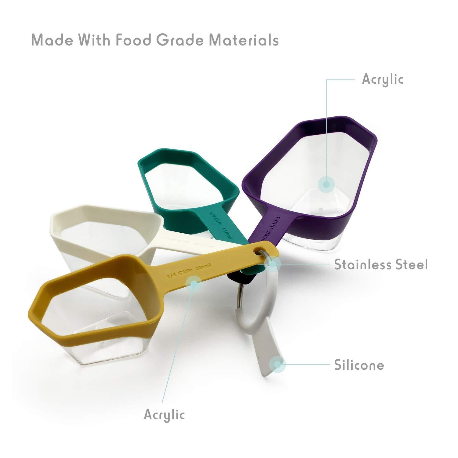 Fortune Candy Measuring Spoons, LFGB-certified, BPA-Free, for Dry and Liquid Ingredients - Fortune Candy