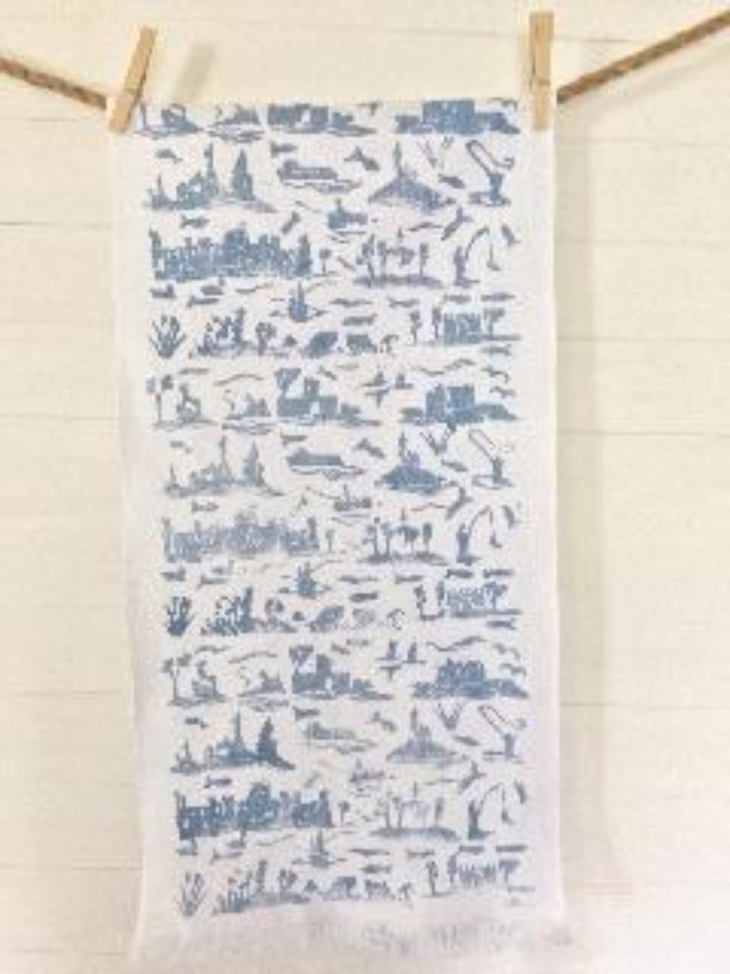 CORRIB TOILE BLOCK PRINT ON IRISH LINEN