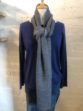 Load image into Gallery viewer, See Saw 2 Tone Scarf in Grey