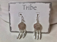 Load image into Gallery viewer, Tribe -Brushed Silver and Gold Plated Earrings With 3 Drops