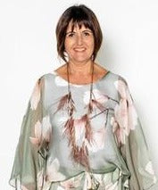 Load image into Gallery viewer, Imagine Fashion-Silk Magnolia Top
