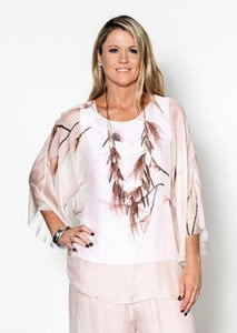 Imagine Fashion-Silk Magnolia Top