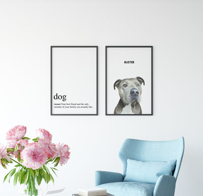 Dog - Your Best Friend Quote Portrait - Kindred Splendor