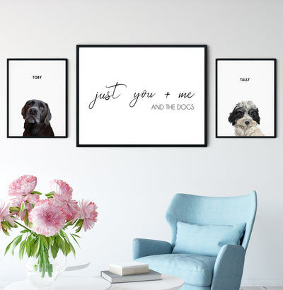 You Me and the Dogs Quote Sign - Kindred Splendor
