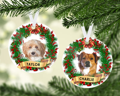 Custom Pet Christmas Ornament - Kindred Splendor