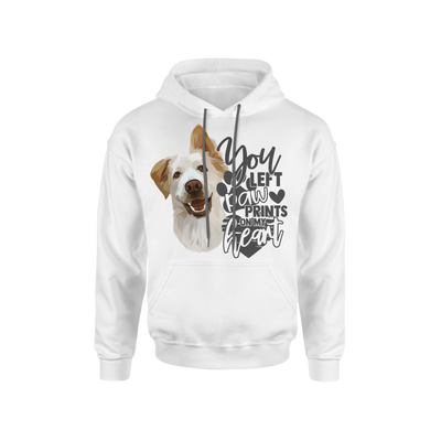 You Left Paw Prints On My Heart Custom Pet Hoodie - Kindred Splendor