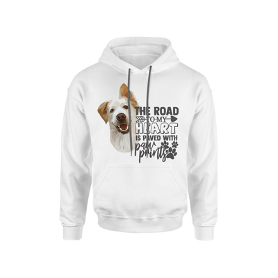 The Road To My Heart Is Paved With Paw Prints Custom Pet Hoodie - Kindred Splendor