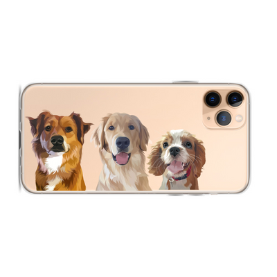 Custom Three Pet Phone Case - Kindred Splendor