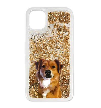 Custom Glitter Pet iPhone Case - Kindred Splendor
