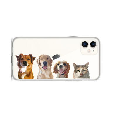 Custom Four Pet Phone Case - Kindred Splendor