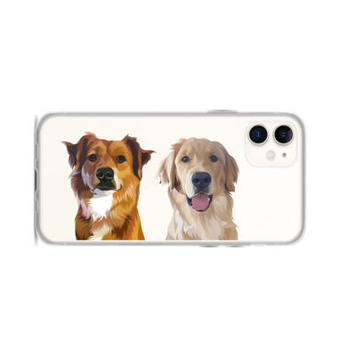 Custom Two Pet Phone Case - Kindred Splendor