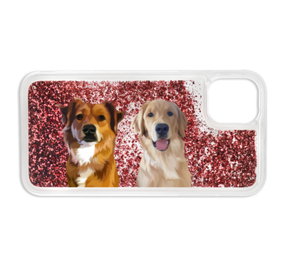 Custom Glitter Two Pet iPhone Case - Kindred Splendor