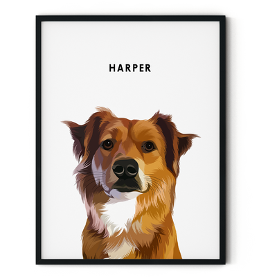 Custom Pet Portrait (Framed) - Kindred Splendor