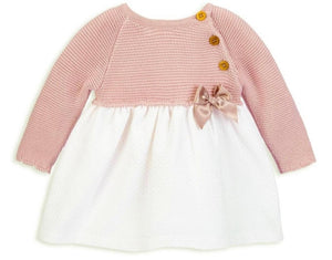 Rose knitted baby girls dress