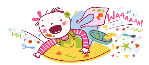 weaning unhappy baby clip art