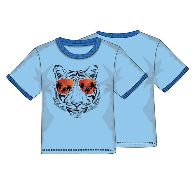 Boys Tiger Ringer T-Shirt