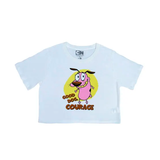 Polo Crop Cartoon Network Coraje (Talla XS a L)