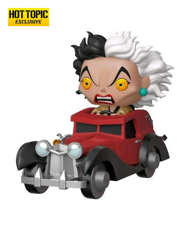 Funko Pop! Ride Disney Villain - Cruella in car Hot Topic exclusive #61